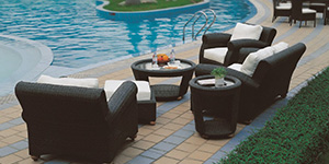 Relax in our luxurious pation furniture.
