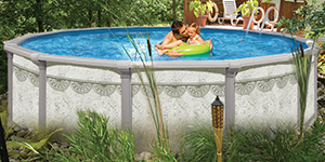 We sell only quality above ground pools.